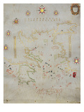 Portolan Chart of Greece  the Aegean and Western Turkey  Titled 'Archipelago De Compasso Largo'