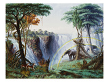 The Mosi-Oa-Tunya (The Smoke That Thunders) or Victoria Falls  Zambesi River