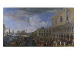 The Arrival of the French Ambassador at the Doge's Palace  Venice; Entree De L'Ambassadeur De…