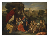 The Holy Family with the Infant Saint John the Baptist and Saint Elizabeth  and with Six Putti…