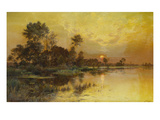 Autumn Evening - Somme Marshes; Soir D&#39;Automne - Marais De La Somme