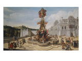A Triumphal Fountain  Bearing the Habsburg Arms  and Surmounted by a Statue Glorifying a Habsburg…