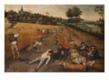 Summer: Harvesters Working and Eating in a Cornfield