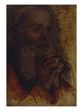Study of Old Man's Head for Jesus Among the Doctors; Etude De Tete De Vieillard Pour Jesus Au…