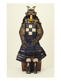 A Suit of Samurai Armour  the Kabuto Comprising a Fine Sixty-Two Plate Russet-Iron Sujibach