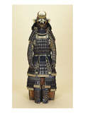 A Suit of Samurai Armour  the Kabuto Comprising a Fine Sixty-Two Plate Russet-Iron Sujibachi and