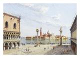 The Piazzetta  Venice  with San Giorgio Maggiore Beyond