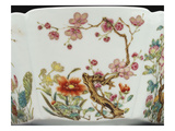 Prunus Branch and Floral Detail from an Extremely Rare Famille Rose Bowl