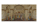 Mughal Palace Interior Depicting Shah Jahan and Mumtaz Mahal