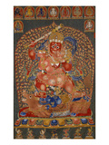 A Fine  and Rare and Important Large Imperial Embroidered Silk Thanka