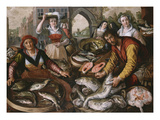The Four Elements: a Fishmonger's Stall in a Town with the Miraculous Draught of Fishes Beyond -…