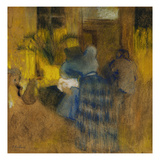 Interior Yellow and Blue  Cat and Child; Interieur Jaune Et Bleu  Chat Et Enfant