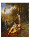An Algerian Woman and Her Servant in a Garden