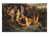 Titania and Bottom: Scene from a Midsummer-Night&#39;s Dream