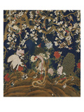 Detail from a Set of Chinese Painted Wallpaper Panels Depicting Pheasants  Phoenix and Peacocks