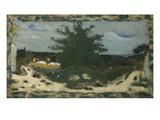 The Sunny Road  Laville Pond; La Route Ensoleillee  L'Etang Laville