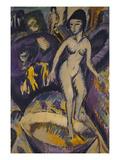 Female Nude with Badezuber; Weiblicher Akt Mit Badezuber