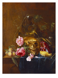 A Vanitas Still-Life with a Skull  a Conical Roemer   a Dead Finch  Wheat  Grapes  Wild Roses and…