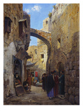 Streetscene in Jerusalem; Strassenscene in Jerusalem