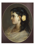 Portrait of Adelina Patti  Head and Shoulders (Female Portrait)