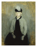 Portrait of Ida Ilsted  Aged Twenty-One  Seated Three-Quarter Length