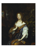 Portrait of Sara Nuyts (1645-1723)  (Wife of Lambert Witsen)  in an Orange  Blue and White Dress