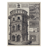 Roman Amphi-Theatre from 'De Architectura' Reprinted and Translated by Como
