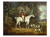 Viscount Rowland Hill on His Grey Hunter with the Shropshire Hunt