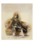 Portrait of Abu-Ul-Mejid Sultan of Turkey Seated Full Length in Military Dress Wearing the Order…