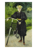 An Elegant Lady with a Bicycle