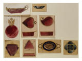 A Collection of Dish Designs of Different Shapes from the House of Carl Faberge