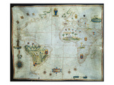 Portolan Chart of the Americas  Africa and Europe