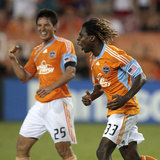 Houston June 26 - Brian Ching and Joseph Ngwenya