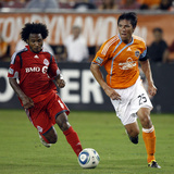 Houston September 18 - Brian Ching and Julian de Guzman