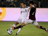 Carson  CA September 9 - Kosuke Kimura and Landon Donovan