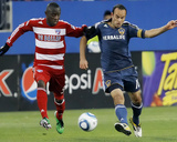 Frisco  TX May 1 - Jair Benitez and Landon Donovan