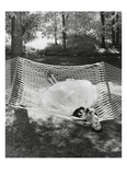 Vogue - July 1953 - Lounging in a Ballgown