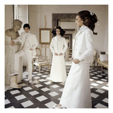 Vogue - March 1968 - Valentino Long White Evening Suits