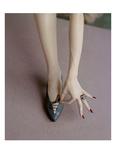 Vogue - April 1957 - Manicured Hand & Lace-up Shoes