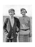 Glenna Collett and Diana Fishwick  The American Golfer July 1930