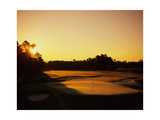 Pinehurst Golf Course No 2 at sunset