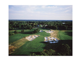 Bethpage State Park Black Course  aerial of the last hole
