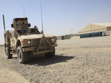 An Oshkosh M-ATV Sits Parked at Camp Leatherneck  Afghanistan