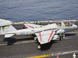 An EA-6B Prowler Is Ready to Go from the Flight Deck of USS Harry S Truman