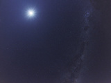 The Moon and the Milky Way in an Ultra Widefield of View