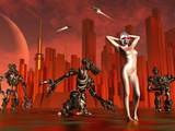 Artist's Concept of a Hot Pinup Pleasure Droid of the Future