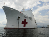 Military Sealift Command Hospital Ship Usns Comfort at Port