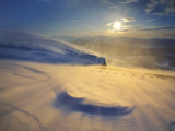A Blizzard on Toviktinden Mountain in Troms County  Norway