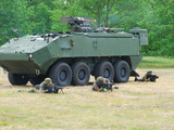 A Belgian Army Piranha IIIC with the Fn Arrows Remote Weapon System Turret