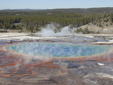 Grand Prismatic Spring  Midway Geyser Basin Geothermal Area  Yellowstone National Park  Wyoming